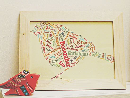 This app takes a list of words and puts them into a picture you can print. (LOVE this... you can design one with the lyrics from your favorite song :)