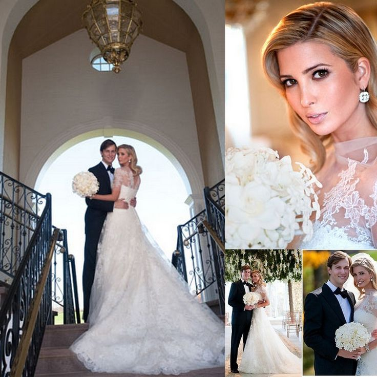 Ivanka Trump Wedding Dress Inspired By Grace Kelly Modest Design Full Lace Bridal Gowns Price