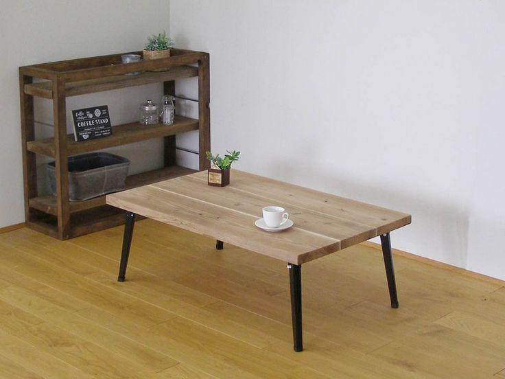 杉の足場板から作ったインドア・アウトドアどちらもOKのカッコいいローテーブル