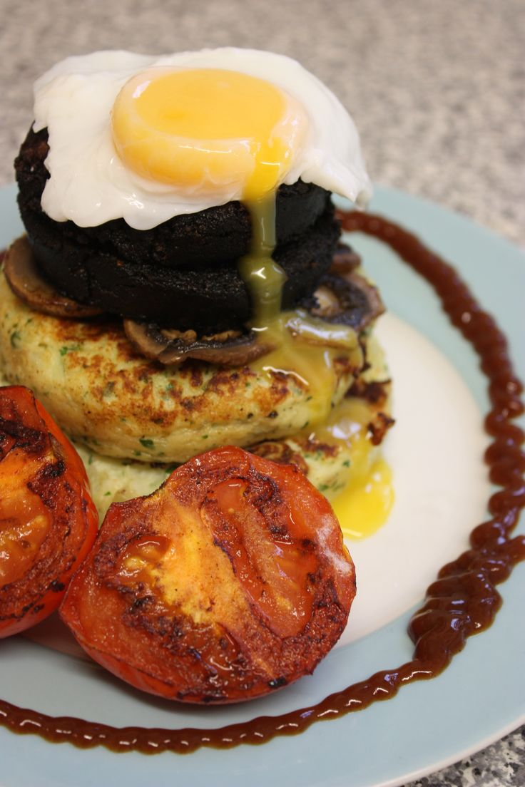 Potato Cake Breakfast Stack: http://www.samstern.co.uk/recipe/potato-cake-breakfast-stack/