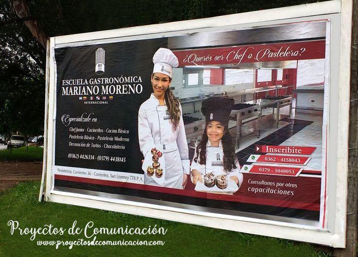 Instituto Mariano Moreno - Diseño de Cartel para vía pública / Proyectos de Comunicación