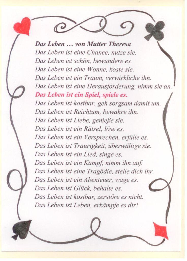 Ein Text von Mutter Theresa.