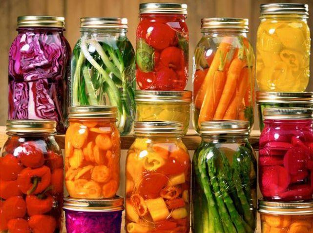 DIY : bocaux  avec légumes