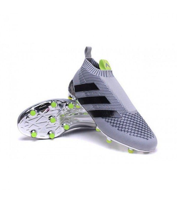 Acheter Adidas Ace16+ Purecontrol FG/AG Chaussures de Football Pour Homme  Argenté Noir pas cher