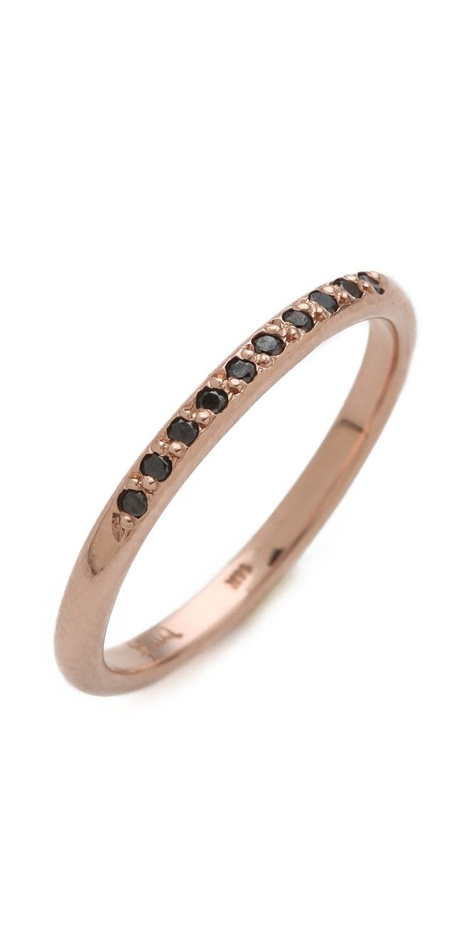 Blanca Monros Gomez Black Diamond Band Ring  Shopbop