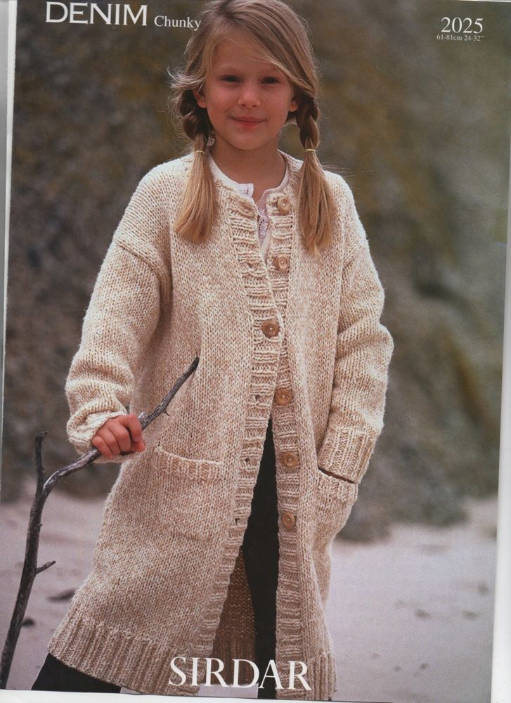 Sirdar Chunky Pocketed Coat Knitting Pattern Craftsewing Books
