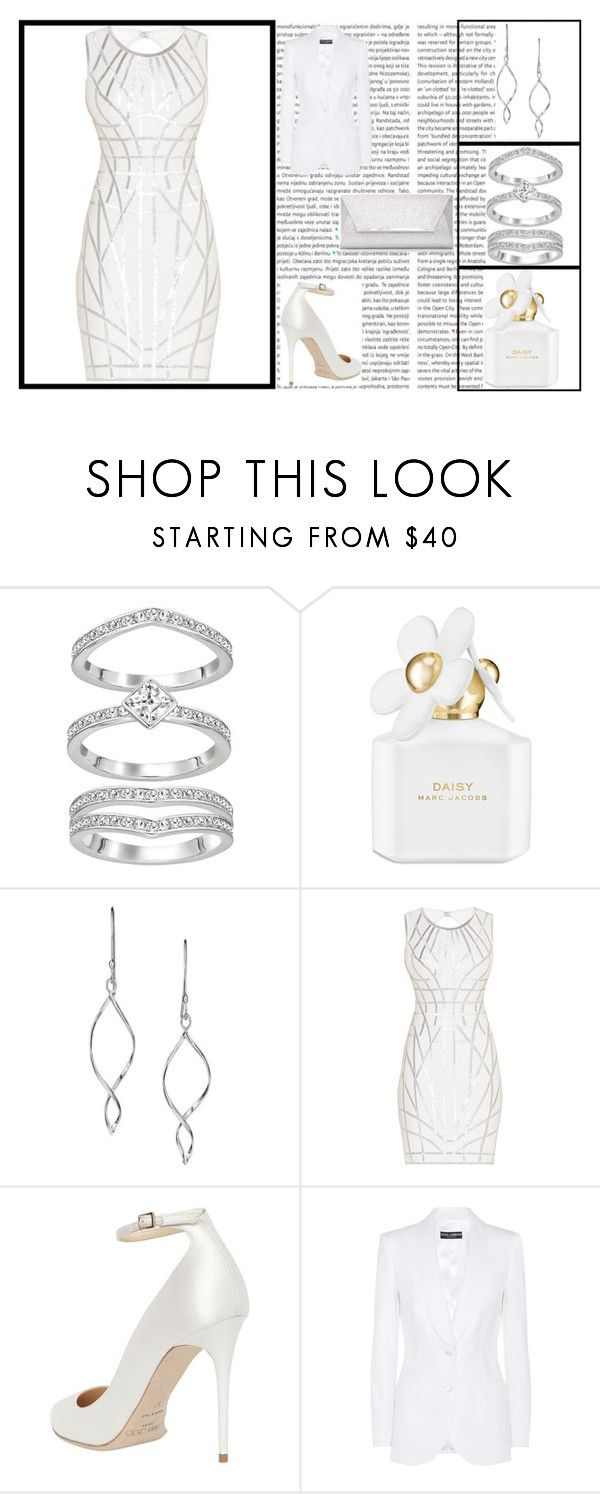 """""""Zodic Cancer Dress"""" by amber2727 ❤ liked on Polyvore featuring Oris, Marc Jacobs, Avon, Hervé Léger, Jimmy Choo, Dolce&Gabbana, Dorothy Perkins, white, dress and zodiac"""