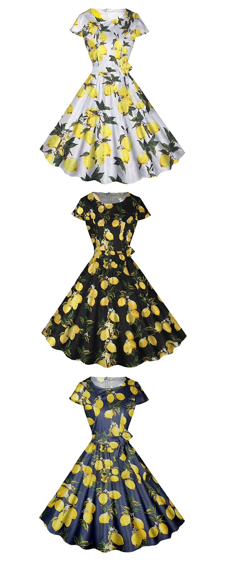Cute bridesmaids dresses with lemon design, fifties retro style bridesmaids dresses, elegant bridesmaids dresses, classes tea dresses for bridesmaids -  FitDesign Vintage Reto Swing Formal Dresses Polka Dots Skull Cocktail Party Cap Sleeves -  https://www.amazon.com/FitDesign-Vintage-Dresses-Cocktail-Sleeves/dp/B072PHQBZ6/ref=as_li_ss_tl?s=apparel&ie=UTF8&qid=1506108122&sr=1-91&nodeID=11006703011&psd=1&linkCode=ll1&tag=theweddingclu-20&linkId=e54a532306664714b4bf662a3df5e83e
