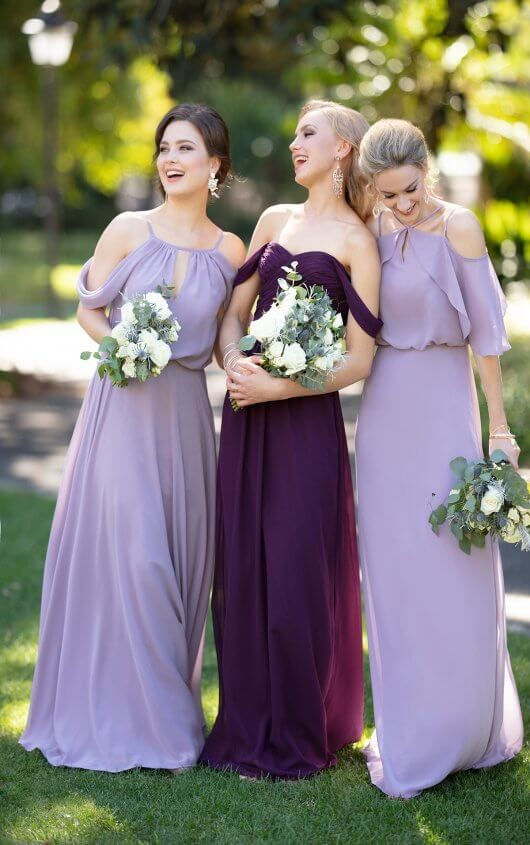f2769cf81a2 9070 Chiffon Bridesmaid Dress with Flutter Sleeves by Sorella Vita