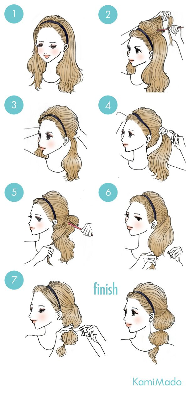 Hair of girly bubble ponytail - with illustrations]