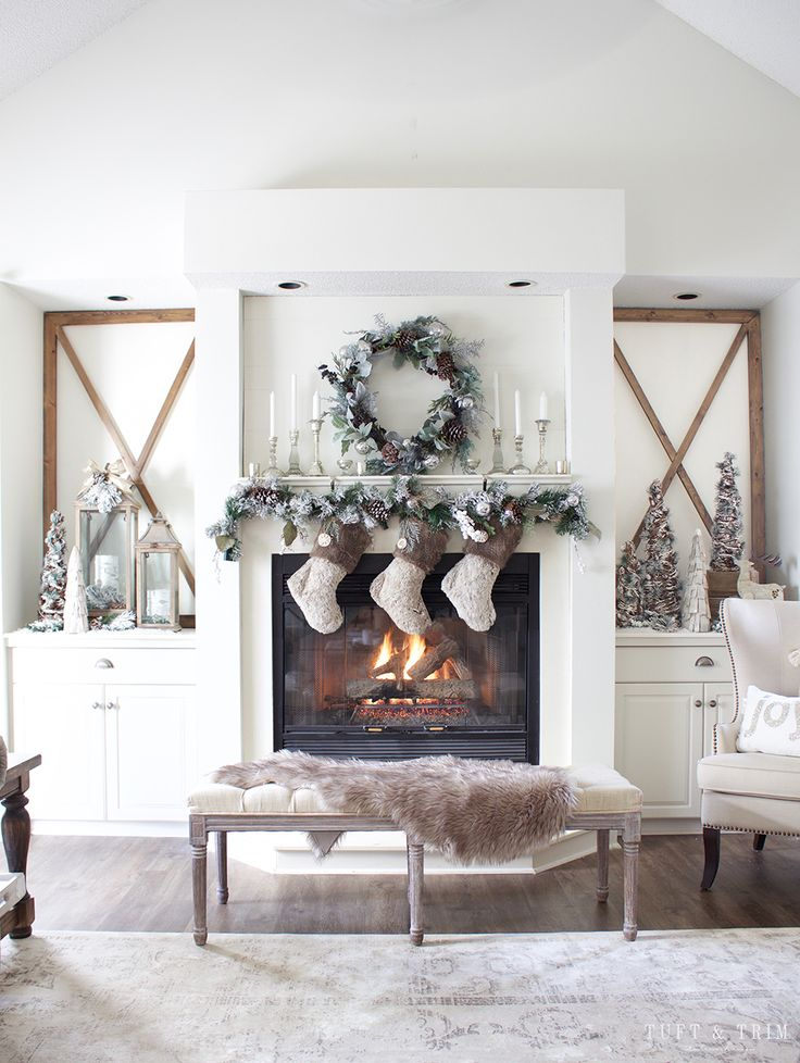 Rustic Chic Christmas Decor Tour. French Farmhouse Holiday Decor