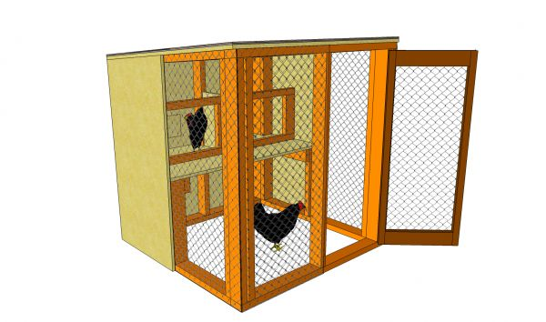 Simple Chicken Coop Plans | MyOutdoorPlans | Free Woodworking Plans and Projects, DIY Shed, Wooden Playhouse, Pergola, Bbq