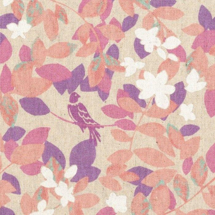 Hummingbird Leaves Pink   Japanese Fabrics   Fabrics to Inspire - Kelani Fabric