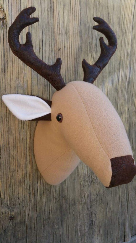 Check out this item in my Etsy shop https://www.etsy.com/listing/517703141/faux-plush-taxidermy-deer-wall-hanging