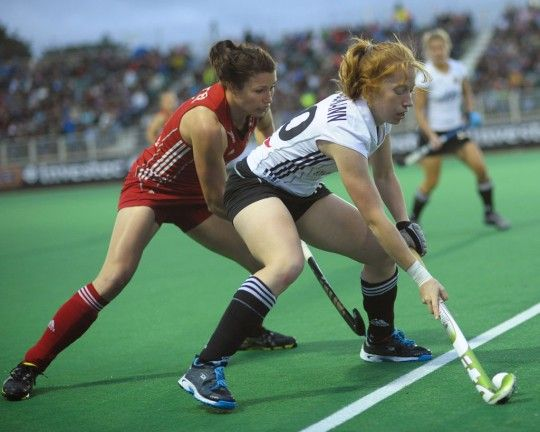 Pool B: GERMANY 2-1 (HT: 2-0) GREAT BRITAIN  Germany Goalscorer: Hannah Kruger 27 (F), Janine Beermann 29 (F)  Great Britain Goalscorer: Hannah Macleod 59 (F)    Despite a battling performance, Great Britain's Investec London Cup crunch match with Germany ended in disappointment on Thursday evening as they went d
