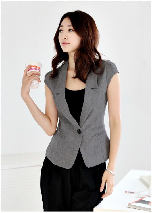 Qoo10 - Women Short Sleeve Blazer / Jacket * Summer Wear * Office Lady * : Women's Clothing