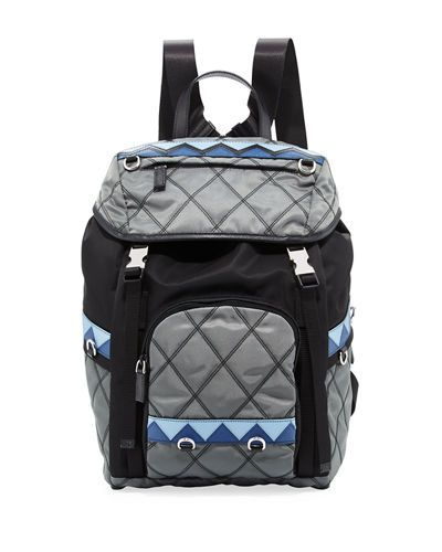 V3KKE Prada Tessuto Imputurato Backpack