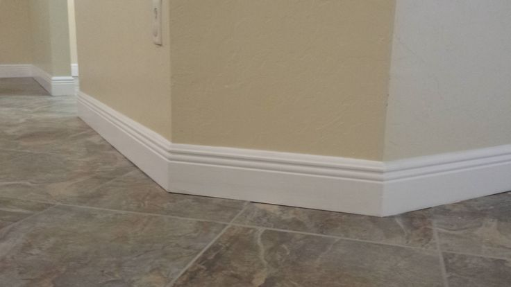 how to cut baseboard molding on the wall
