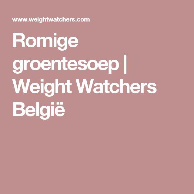 Romige groentesoep | Weight Watchers België
