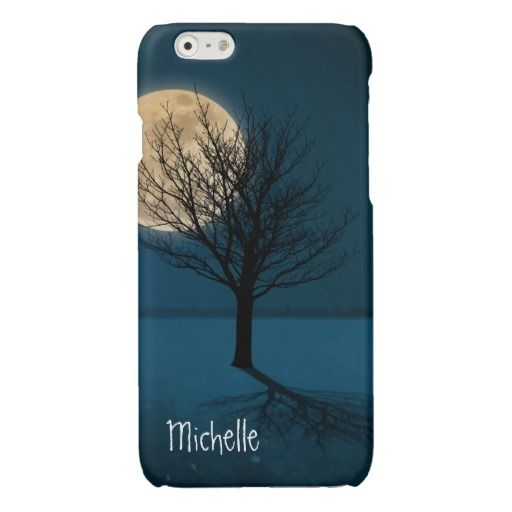 Moon Shadow Glossy iPhone 6 Case ~ Stately, elegant tree casts its shadow by moonlight. Composite of elements from multiple images. All rights reserved 2012 katz d zynes