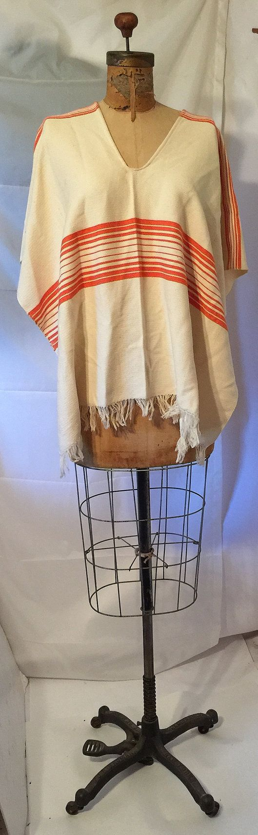 Presidents Day Sale Cool Hand Woven Cotton Ethnic Poncho South American Top-Shirt-One Size-Hippie-Bohemian