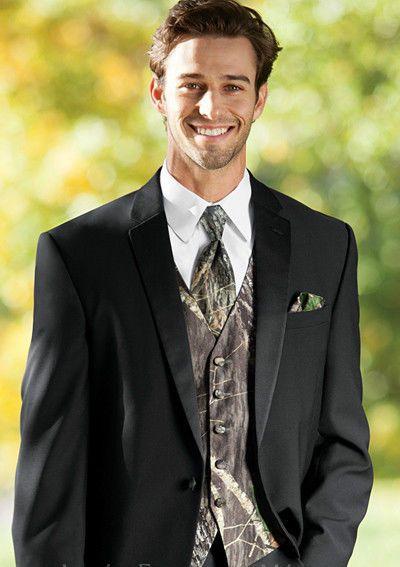NEW 4XL Mens Mossy Oak Camo Tuxedo Vest/Tie/Hankie Alpine Break Up Formal XXXXL