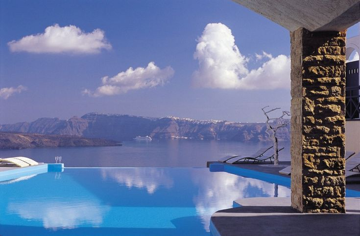 Decent view? Astarte Boutique hotel located on a cliff on Santorini island in Greece