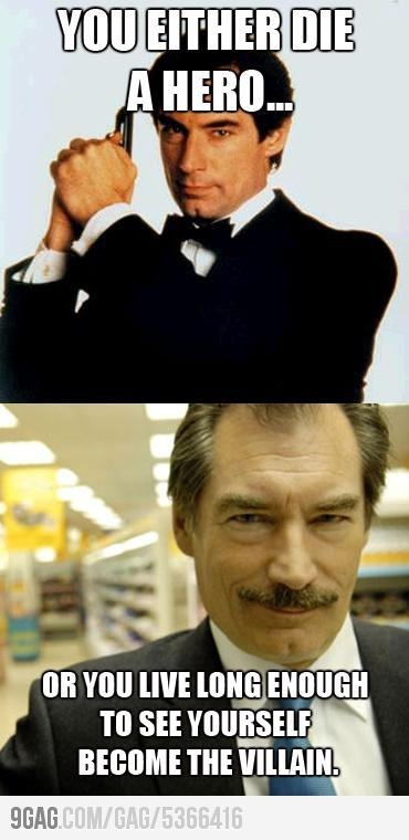 I admit to not watching Timothy Dalton as Bond, but I have seen him as Simon Skinner in Hot Fuzz.. this picture makes me crack up!
