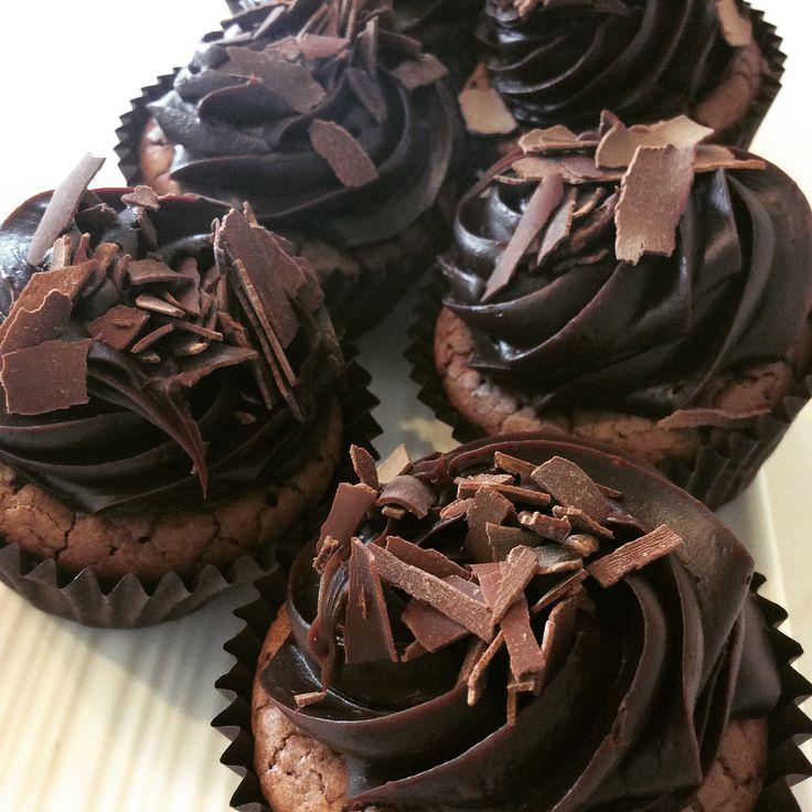 Gluten Free Triple chocolate cupcake.