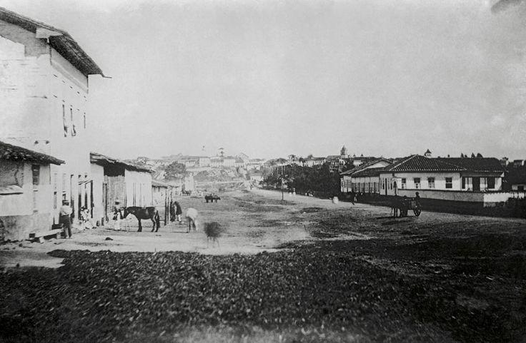 Rua do Brás, 1862 (atual avenida Rangel Pestana). (Militão Augusto de Azevedo)