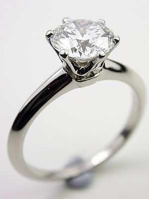 Tiffany and Co. Vintage Engagement Ring. Simple and elegant.