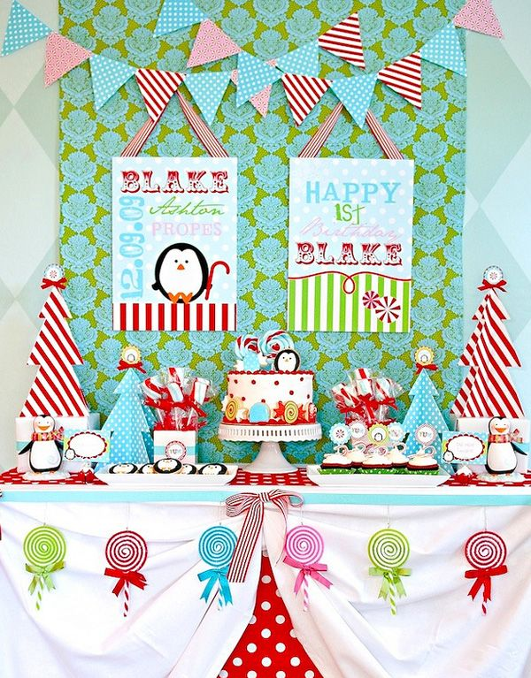 """This is it! Jules' """"Winter One-derland"""" party for her first birthday!!!"""