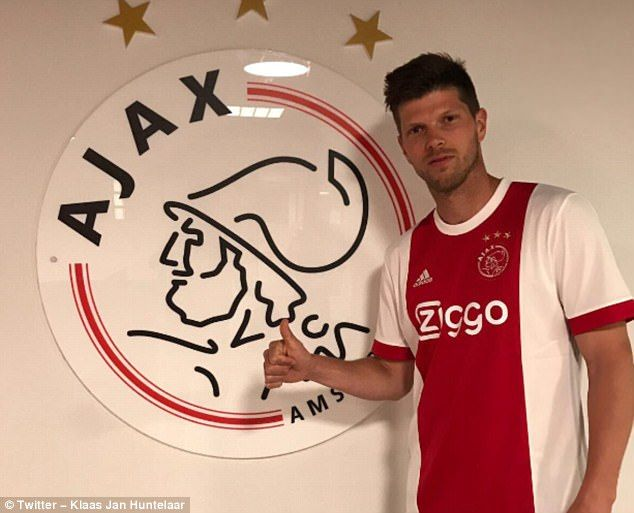 Klaas Jan Huntelaar has returned to Ajax following his departure from Schalke