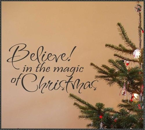 Superior Holiday Vinyl Wall Lettering Quote Believe In The Magic Of Christmas Words