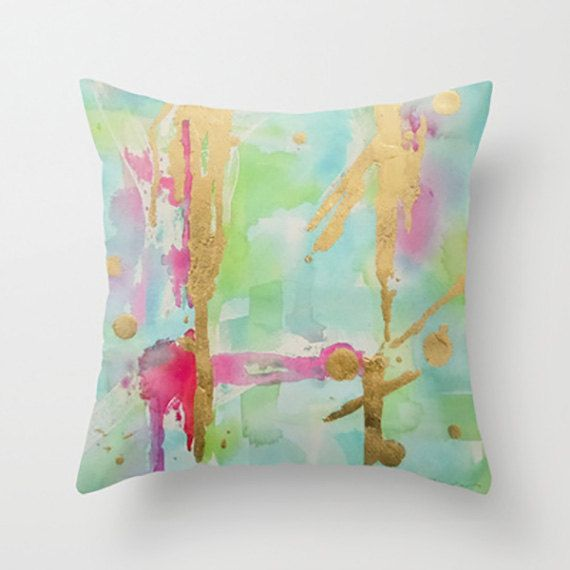 "Mint Pillow, Mint Throw Pillow, Mint Green Decorative Cushion, ""Minted Illusions"""