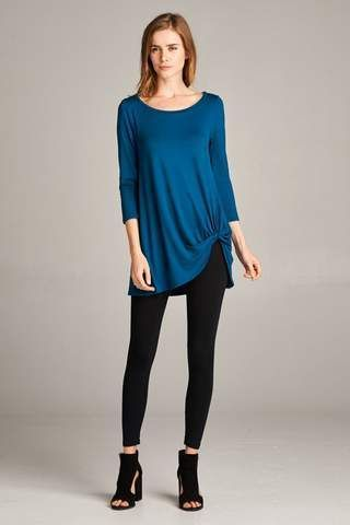 Tunic Top, Tops for Women, Online Clothing, Ladies Shirts, Tops for leggings, Side Twist Tunic Top