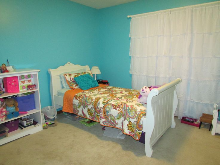 K's New Room. New Paint Color, Gem Turquoise By Behr