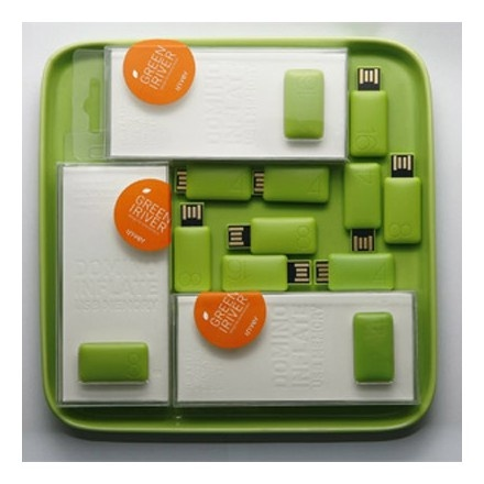 [Iriver] USB Domino Inflate Memory Green 4GB