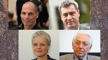 Yanis Varoufakis, Markus Söder, Ulrike Herrmann, Ernst Elitz