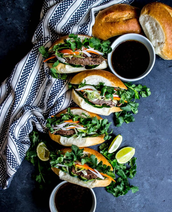 Slow Cooker Tri Tip Dip Banh Mi | What do you crave?