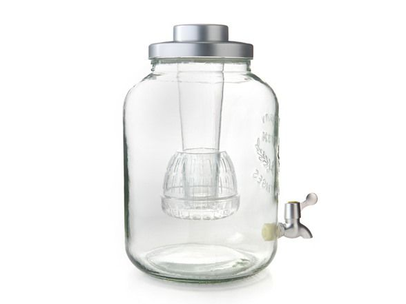 3 Gallon Beverage Dispenser w/Infuser, Stand & 6 Glasses - Home.Woot