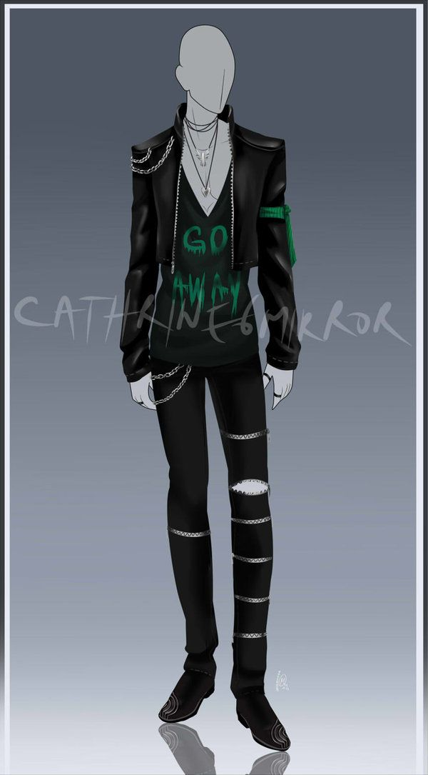 anime male clothes - 600×1085