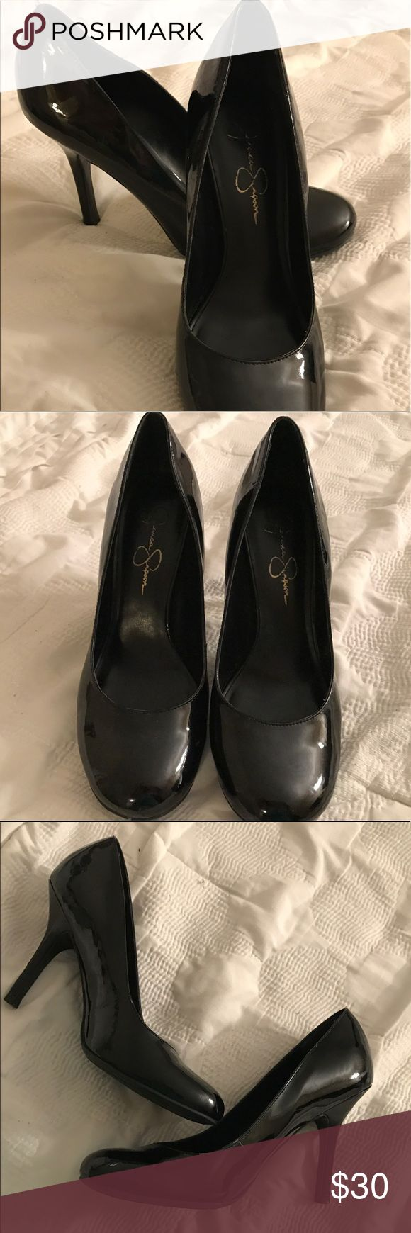 Jessica Simpson Black Pumps EUC EUC Jessica Simpson black pumps. Size 9. Worn once or twice to work. Black patent. Only selling because I prefer a taller heel. Great for work or going out!! Will ship with original box. Please refer to pictures and ask all questions! 💙 Jessica Simpson Shoes Heels