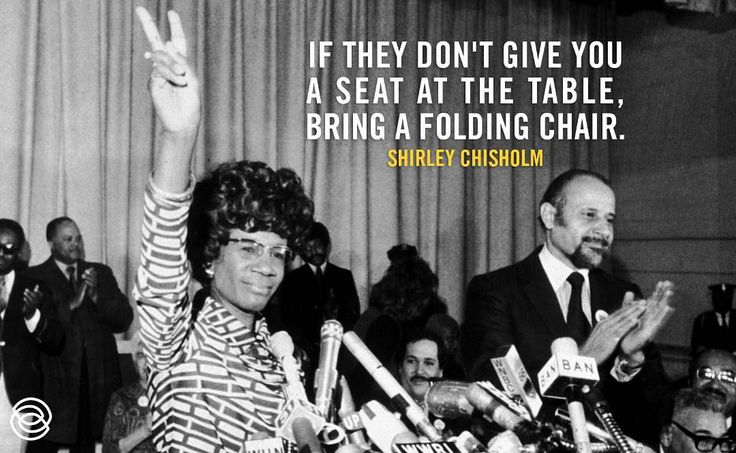 Happy belated birthday to trailblazer, Shirley Chisholm. Chisholm was the first African American woman elected to the United States Congress and the first woman to run for the Democratic Party's presidential nomination.  #ShirleyChisholm #MissRepresentation #MissRep #RepresentHer #MediaWeLike