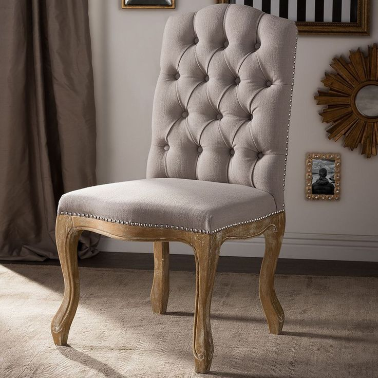 Rustic French Dining Chairs baxton studio hudson shabby chic rustic french cottage upholstered