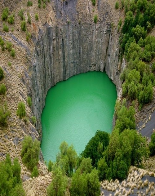The Big Hole, Kimberley  A South African open-pit also known as the Open Mine and Kimberley Mine. ‪#‎southafrica‬ ‪#‎Kimberley‬ ‪#‎travel‬