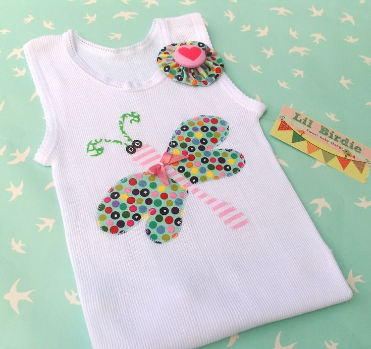 Baby SInglet Childrens Clothing Tank Top Flutterfly Sprinkles $20