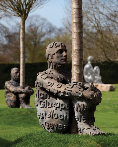 "work by Jaume Plensa ""The Heart of Trees"" (2007). Saw this at Yorkshire Sculpture Park 2012"