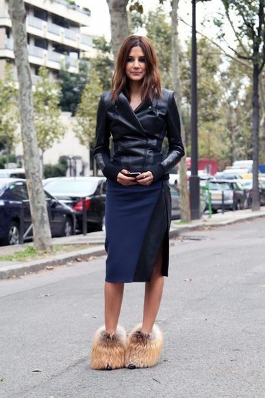 Christine Centenera style file: Christine Centenera wears Dion Lee jacket and skirt. Louis Vuitton heels.