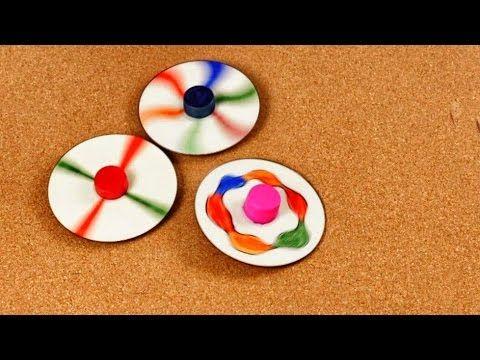 Cómo hacer Trompos con CDs - Juguetes con Material Reciclado - Fácil y D...